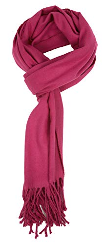 Love Lakeside-Men's Cashmere Feel Winter Solid Color Scarf 00-0 Violet