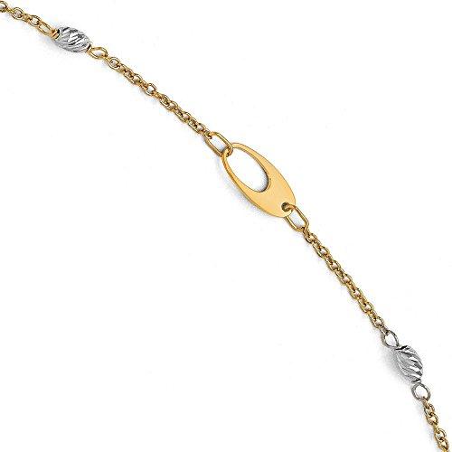 14carats-Bracelet en or bicolore et poli-20cm