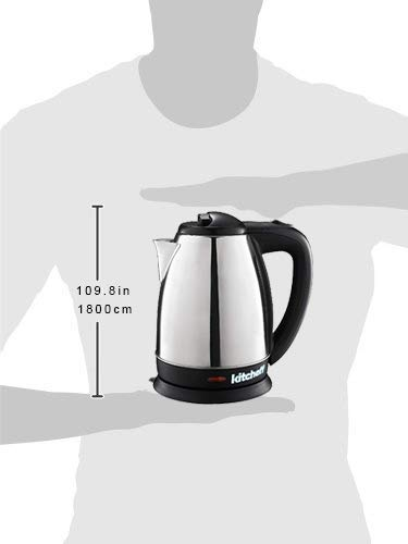 Kitchoff Electric Stainless Steel Automatic Kettle, 1.8L (Kl1_Black)