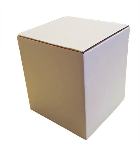 Royal Mail Small Parcel White Cardboard Boxes Self Assembly (115mm x 115mm x 130mm 0215, 1) Boxes2Go