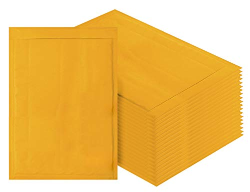 Canary Mailers - Kraft bubble mailers 10.5 x 15 Padded envelopes 10 1/2 x 15 by Amiff. Pack of 20 Kraft Paper cushion envelopes. Exterior size 10.5 x 16 (10 1/2 x 16). Peel & Seal. Mailing & shipping & packing.