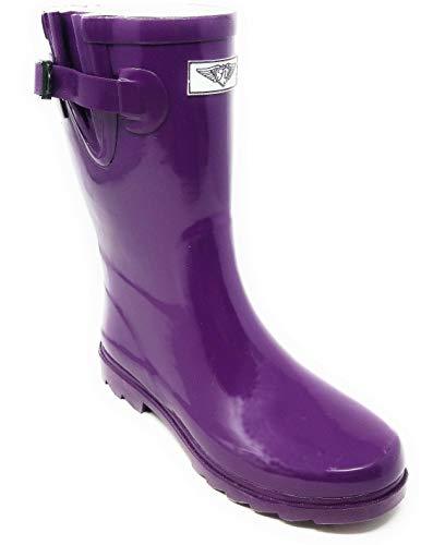 Women Rubber Rain Boots Mid-Calf 11