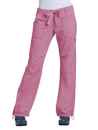 KOI Women's Lindsey Ultra Comfortable Cargo Style Scrub Pants (Petite Sizes), Pink Small by KOI (Image #1)