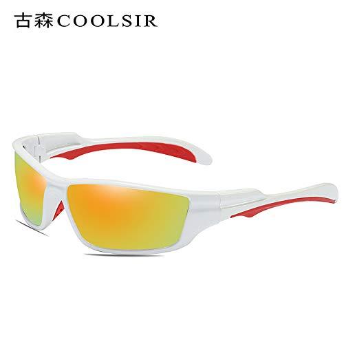 Mjia de nbsp;Gafas nbsp;polarizadas White frame nbsp;Gafas sunglasses nbsp;UV Caja de nbsp;Sol nbsp;conducción nbsp;conducción de Gafas Deportivas nbsp;Espejo Hombre 1 roja Gafas nbsp; de de Sol rrqPTUwF