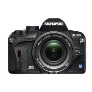 Olympus Evolt E420 10MP Digital SLR Camera with 14-42mm f/3.5-5.6 Zuiko Lens