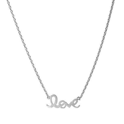 Spinningdaisy Handcrafted Brushed Script Necklace