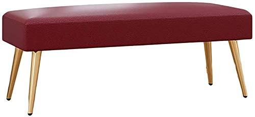 BBG Eingang multifunktional für zu Hause Schuhbank, Schuhgeschäft Test Langer Hocker für Eingang Wohnzimmer The Mall Bekleidungsgeschäft Umkleideraum Umkleideraum Schuhbank ändern,rot,100 × 40 × 43 c