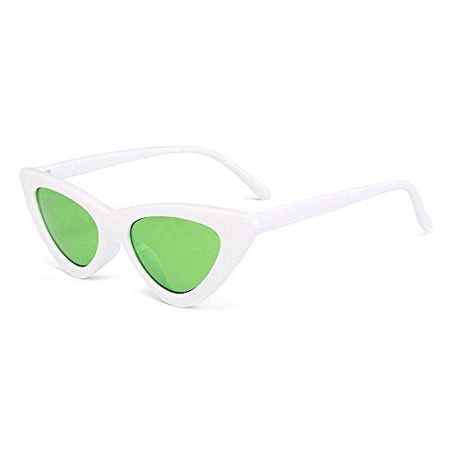 Uv400 gray FrameGreen Sole Retro Occhiali Per Da DonneMaschera Pawaca Lente Unica Lens Eye In Red Plastica Frame Taglia Con Cat Vintage White Cornice 8n0vmwN