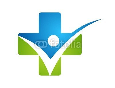 Medicine Health Point Plus Nature Logo Icon People Check Symbol