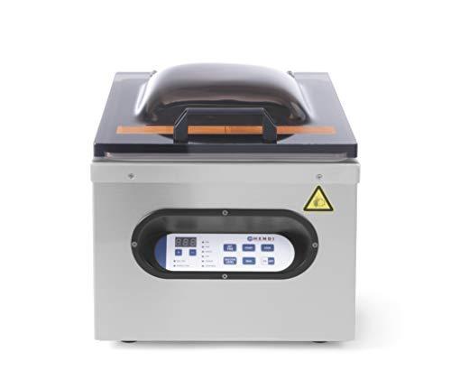 HENDI Vakuum-Verpackungsmaschine, Vakuumiergerät, Vakuum Kammer Verpackungsmaschine, Schweißleiste: 295mm, Pumpenleistung: 77 l/min, 230V, 630W, 429x359x(H)345mm, Edelstahl