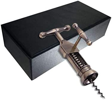 Malsyee Sacacorchos antiguos, herramienta de barra casera de abrebotellas de vino, con caja de regalo