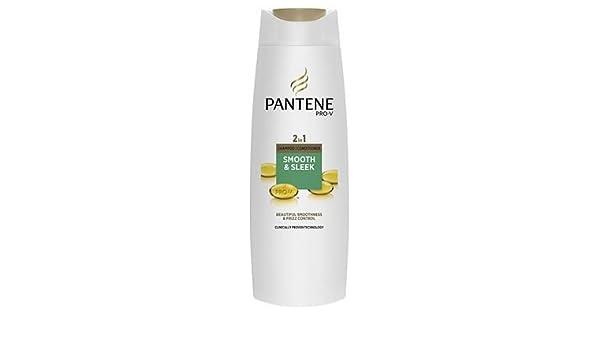 Pantene Pro-V 2 en 1 Champú y Acondicionador Suave y Liso 400 ml: Amazon.es: Belleza