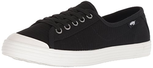 Rocket Dog Women's Chowchow Ribbs Cotton Sneaker, Black, 9 M (Rocket Dog Zappos)