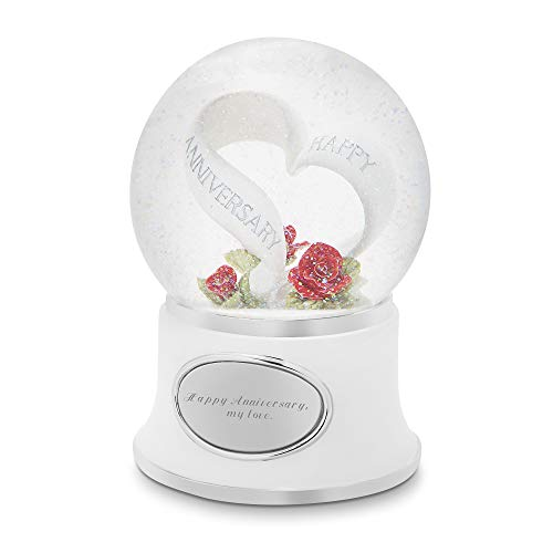 Things Remembered Personalized Anniversary Celebration Musical Snow Globe with Engraving -