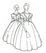 Civil War Ball Gown Pattern - 1860's Civil War Era Ball Gown Pattern, Sizes 16-20