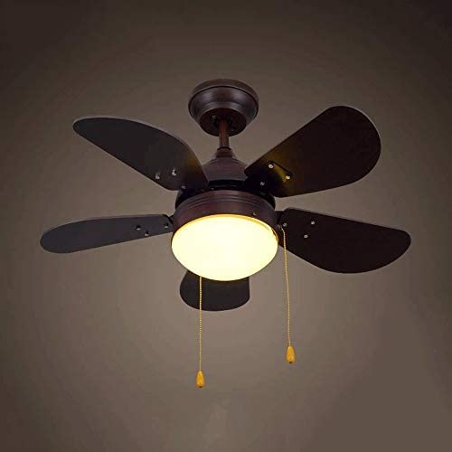 Energía 70cm LED Ventilador de techo, con cuchillas y la luz blanca de pantalla de vidrio, americana de los admiradores de la lámpara LED de la lámpara Estudio Dormitorio Salón Comedor Ventilador
