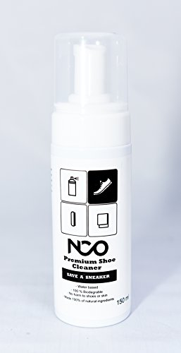 Premium Shoe Sneaker Cleaner Kit 150 ML Bottle Natural Foam Solution Set with Brush and Microfiber Towel Cloth Water Based Formula All in One Portable Kit by NCO (Image #8)