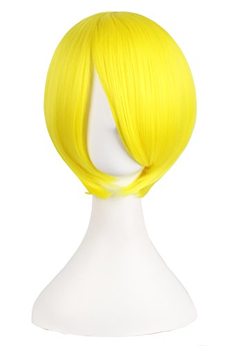 """MapofBeauty 12""""/30cm Short Straight Cosplay Costume Wig Party Wig (Yellow)"""