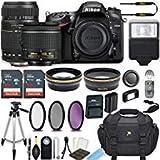 Nikon D7200 24.2 MP DSLR Camera (Black) w/AF-P DX NIKKOR 18-55mm f/3.5-5.6G VR Lens & Tamron 70-300mm f/4-5.6 Di LD Lens Bundle includes 64GB Memory + Filters + Deluxe Bag + Accessories