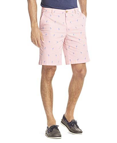 IZOD Men's Advantage Performance Flat Front Slim Fit Pant, Candy Pink, -