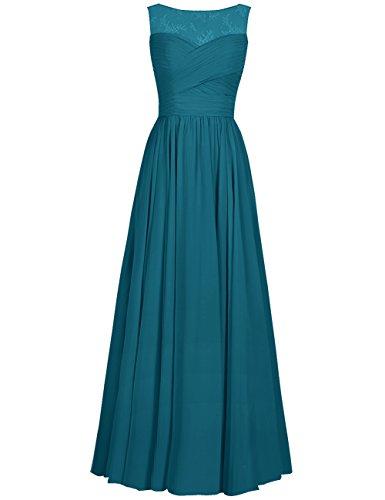 Bridesmaid Chiffon Women's Prom blue Dresses Cdress Gowns Flora Dress Evening Long Ink Applique Formal Tq4U5xBw