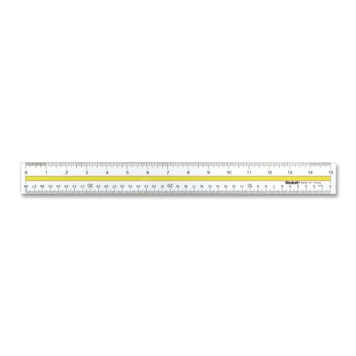 Plastic Reading Tinted (Westcott Acrylic Data Highlight Reading Ruler With Tinted Guide, 15