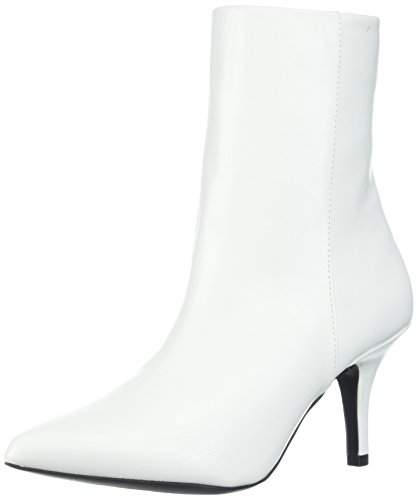 Qupid Women's Portia-05 Fashion Boot, White, 8 M (White Heel Boots)