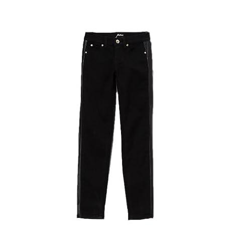 Pinc Premium Big Girls' Tuxedo Skinny Jean 14 Black (Pinc Premium Toddler)