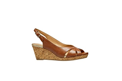 Van Dal Womens Bridlington Peep Toe Wedge Sandals Tan 61OVqFTRFB
