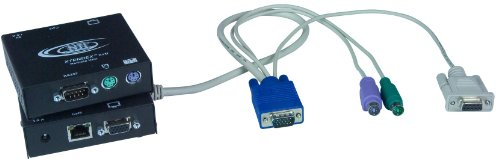 - XTENDEX® VGA PS/2 KVM Extender with RS232 via CAT5, Extend to 600 Feet