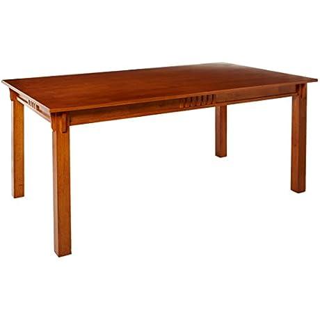 Coaster 100621 Mission Style Dining Table Burnished Oak Solid Hardwood