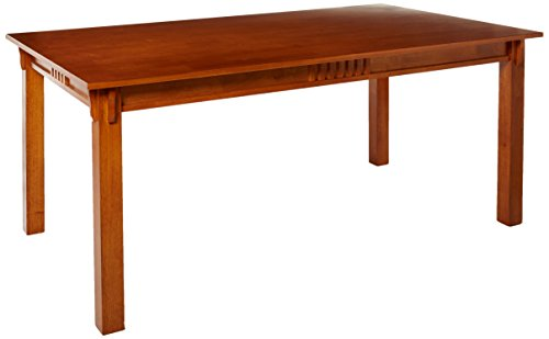 coaster 100621 mission style dining table burnished oak solid hardwood - Kitchen Oak Table
