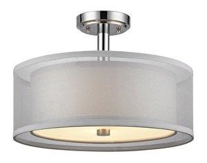 (Dolan Designs 1275-26 Double Organza 3 Light Semi Flush mount,)