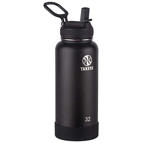 Takeya 51244 Actives Insulated Stainless Steel Bottle w/Straw Lid, 32oz -