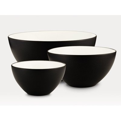 - Noritake 3-Piece Colorwave Bowl Set, Graphite
