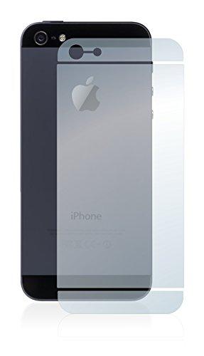 [6 Pack] Savvies Pellicola Protettiva per Apple iPhone 5 Posteriore (intera superficie) Protezione Proteggi Schermo - Trasparente