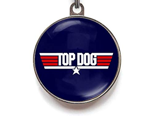 Top Dog Pet Tag Dog Tag Top Gun Pet Tag Dog Tags (Large) ()