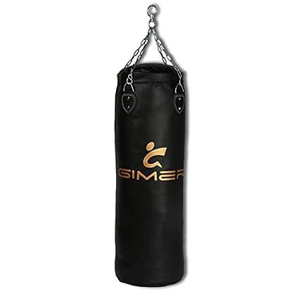 GIMER - Saco de Boxeo para Adultos, Unisex, Unisex Adulto, Arti Marziali, Negro 11/202