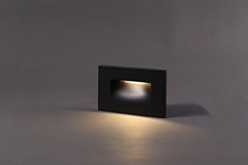 Cloudy Bay 120V LED Step Light, 3000K Warm White 3W 100lm,Indoor/Outdoor Stair Light,Oil Rubbed Bronze Finis by Cloudy Bay (Image #1)