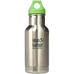 Klean Kanteen Kid Kanteen Classic Double Wall Vacuum Insulated Stainless Steel Kids Water Bottle with Leak Proof Loop Cap