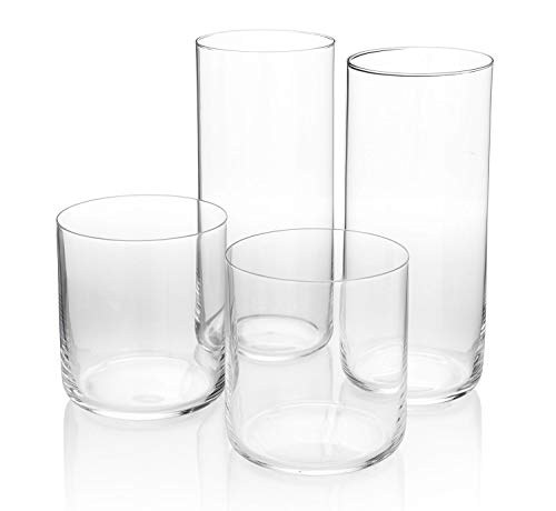 HISTORY COMPANY Curated Glassware Japanese Whiskey Glass, 2 Pieces, 10 oz. AND Japanese Highball Glass, 2 Pieces, 14 oz…