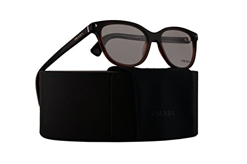 Prada PR14RV Eyeglasses 54-16-140 Red Havana Gradient w/Demo Clear Lens TWC1O1 VPR14R VPR 14R PR - Less Rim Glasses