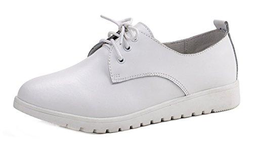 Talon Plat Ville Blanc Easemax Chaussure Femme Derbies Lacets Confort à de wwq0U8