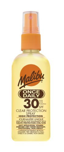Malibu Once Daily SPF 30 Clear Protection Spray 100ml Malibu Sun EM125