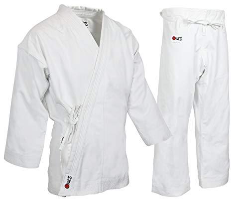 Heavyweight Karate Pants - MACS Super Heavyweight Karate Uniform - White Professional Kimono - Advanced 100% Cotton 14oz Karate Gi - Perfect for Competition or Training (7)