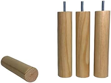 patas m8 y placas de montaje patas en madera macizas lacadas en natural patas 100 mm alto