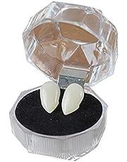 TOSSPER 1 Paar Fangs Tanden met Zelfklevende Halloween Party Cosplay Props Valse Tanden Props voor Party Gunsten Dress Up Accessoires