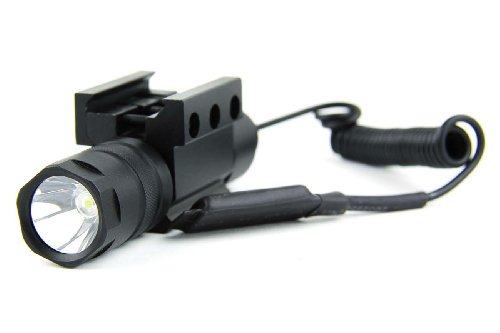 Amazon.com  TacFire Cree LED T5 150 Lumens Tactical Flashlight with Romote  Pressure Switch 4139285db8e1