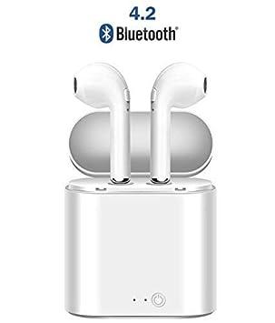 Auriculares inalámbricos Bluetooth, Auriculares inalámbricos Bluetooth Sport Auriculares con Caja de Carga, Auriculares inalámbricos en el oído para iPhone ...