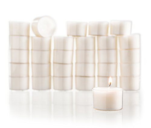 Candles Unscented Tealight - Tea Light Candles Set of 30 White Unscented Classic Tealights with 8-Hour Burn Time Great for Home, Weddings, Parties, Special Occasions & Holiday Decorations (White)